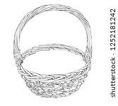 linear vintage christmas basket ... | Shutterstock .eps vector #1252181242