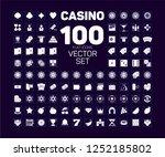 casino flat icon set  gambling  ...   Shutterstock .eps vector #1252185802