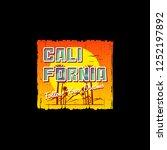 california t shirt apparel... | Shutterstock .eps vector #1252197892