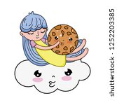 Little Girl With Sweet Cookie...