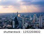 cityscape  sunset time  aerial... | Shutterstock . vector #1252203832