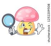 detective fairy house mushroom... | Shutterstock .eps vector #1252209508