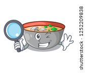 detective asian soup cup... | Shutterstock .eps vector #1252209838