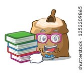 student with book sugar in bowl ... | Shutterstock .eps vector #1252209865