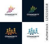 set of people community logo... | Shutterstock .eps vector #1252210318