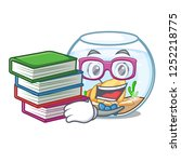 student with book fishbowl in a ... | Shutterstock .eps vector #1252218775