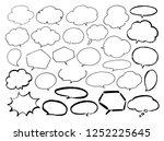 hand drawn speech bubbles set   Shutterstock .eps vector #1252225645