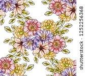 abstract elegance seamless... | Shutterstock .eps vector #1252256368