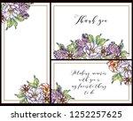 romantic wedding invitation... | Shutterstock .eps vector #1252257625