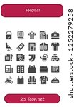 vector icons pack of 25 filled... | Shutterstock .eps vector #1252279258