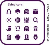 vector icons pack of 16 filled... | Shutterstock .eps vector #1252279285