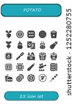 vector icons pack of 25 filled... | Shutterstock .eps vector #1252280755