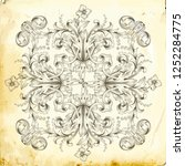 retro baroque decorations... | Shutterstock .eps vector #1252284775
