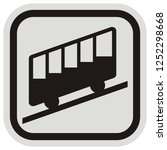 cableway  gray and black frame  ...   Shutterstock .eps vector #1252298668