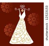 dress on a hanger   Shutterstock .eps vector #12523153