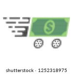 dollar banknote wagon halftone... | Shutterstock .eps vector #1252318975