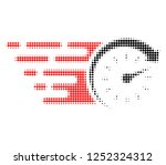 time halftone dotted icon with... | Shutterstock .eps vector #1252324312