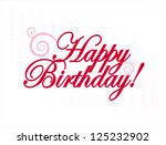 happy birthday card | Shutterstock .eps vector #125232902