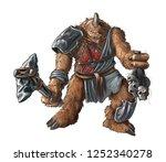 concept art digital fantasy... | Shutterstock . vector #1252340278