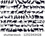 animals collection silhouette | Shutterstock .eps vector #1252343428