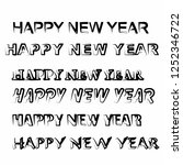 happy new year isolated vector...   Shutterstock .eps vector #1252346722