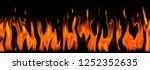 fire flames banner xxl 300 dpi | Shutterstock . vector #1252352635