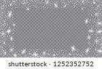 snow blizzard effect. bbright ... | Shutterstock .eps vector #1252352752