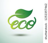 green eco labels concept with... | Shutterstock .eps vector #1252357462