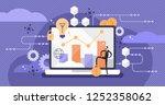 fintech vector illustration.... | Shutterstock .eps vector #1252358062