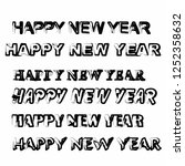happy new year isolated vector... | Shutterstock .eps vector #1252358632
