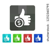 pay per like   app icon | Shutterstock .eps vector #1252360795