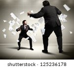 image of businesspeople arguing ... | Shutterstock . vector #125236178