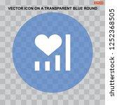 heartbeat heart shape icon... | Shutterstock .eps vector #1252368505