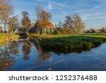 zaanse schans  netherlands  ... | Shutterstock . vector #1252376488