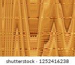 art abstract yellow brown... | Shutterstock . vector #1252416238