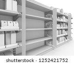 supermarket shelf stopper...   Shutterstock . vector #1252421752