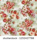 digital fabric colorful texture ... | Shutterstock . vector #1252427788