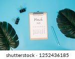 Flat Lay Calendar With...