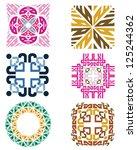 pattern textile texture | Shutterstock . vector #125244362