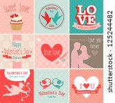 valentine s day set   greeting... | Shutterstock .eps vector #125244482