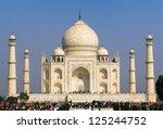 view of taj mahal  agra  uttar... | Shutterstock . vector #125244752