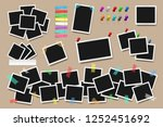 set of realistic square frames  ... | Shutterstock .eps vector #1252451692