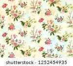 beautiful  flower texture... | Shutterstock . vector #1252454935