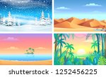 different color planet earth... | Shutterstock .eps vector #1252456225