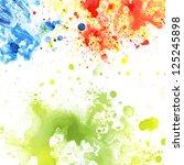 watercolor blot background ...   Shutterstock . vector #125245898