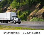 middle size white day cab semi... | Shutterstock . vector #1252462855