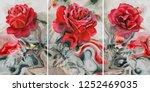 collection of designer oil... | Shutterstock . vector #1252469035