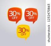 discount offer price label ... | Shutterstock .eps vector #1252470865
