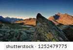 sunrise in the mountains. small ... | Shutterstock . vector #1252479775