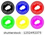 saint helena   rubber stamp  ... | Shutterstock .eps vector #1252492375